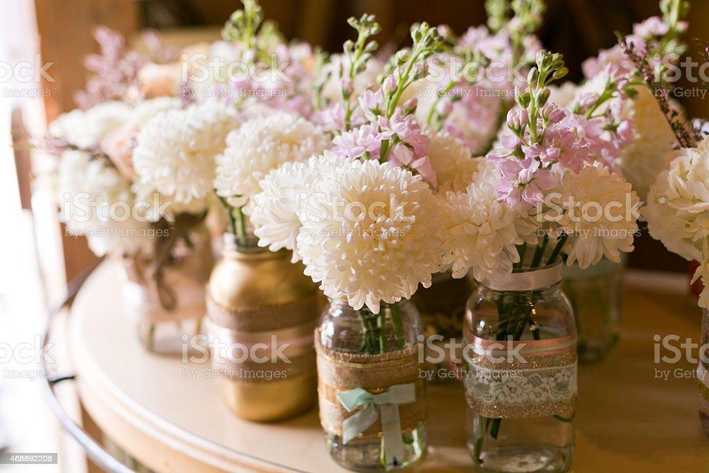 White Dahlia Wedding stock photo