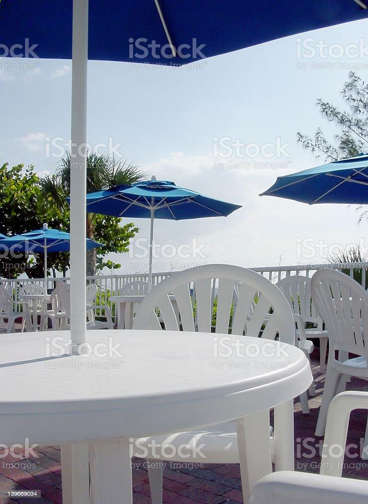 White Deck Table 3 royalty-free stock photo