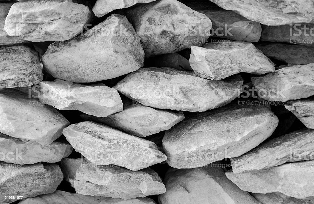 White Decorative Stones stock photo