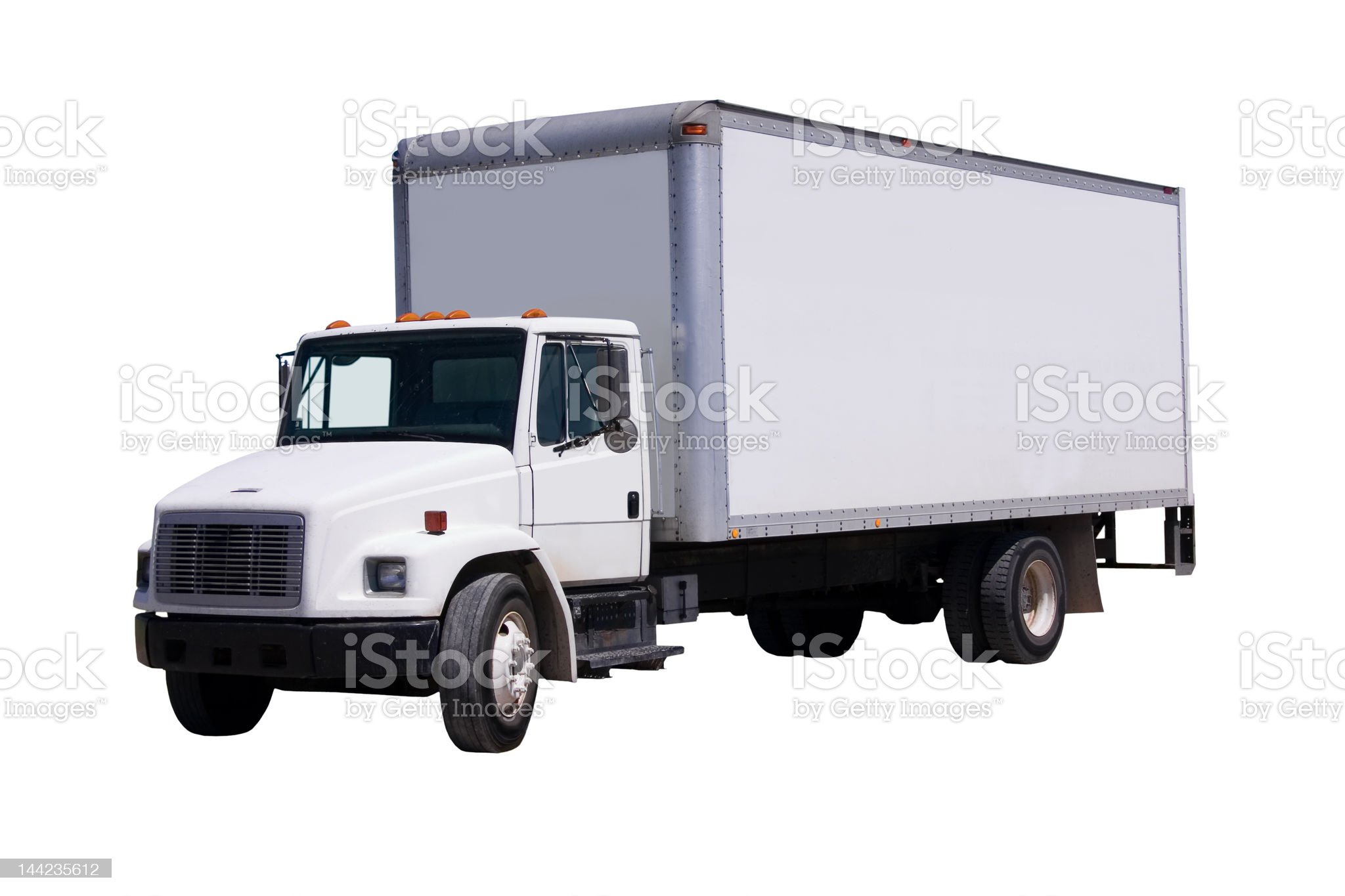 White Delivery Truck isolaated royalty-free stock photo