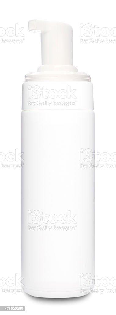 White Deodorant Bottle Template royalty-free stock photo