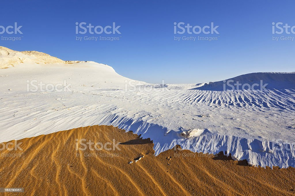 White Desert stock photo