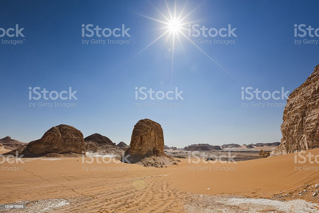 White Desert Sun stock photo