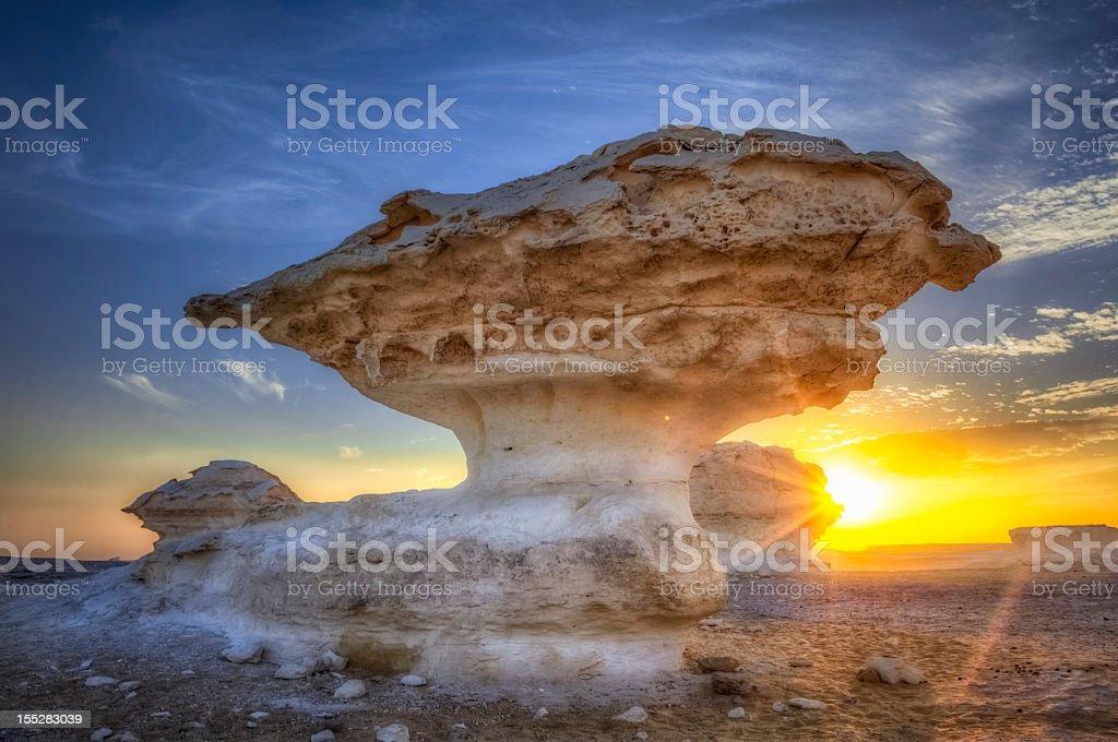 White Desert Sunset stock photo