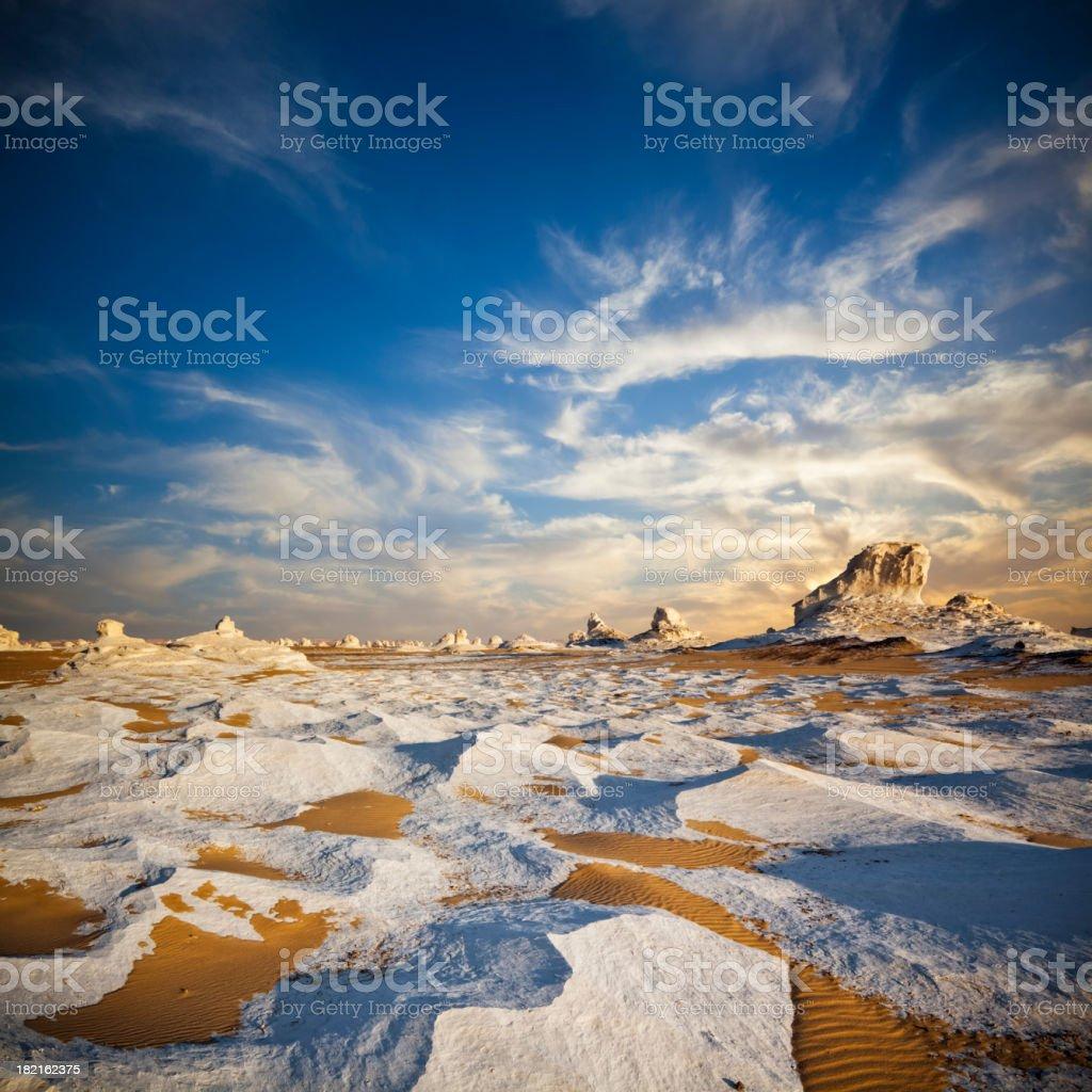 White Desert Twilight stock photo