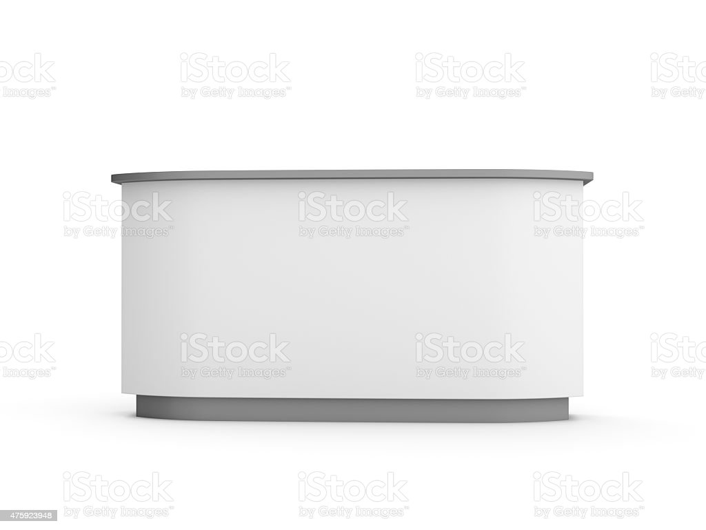 white desk or booth stock photo