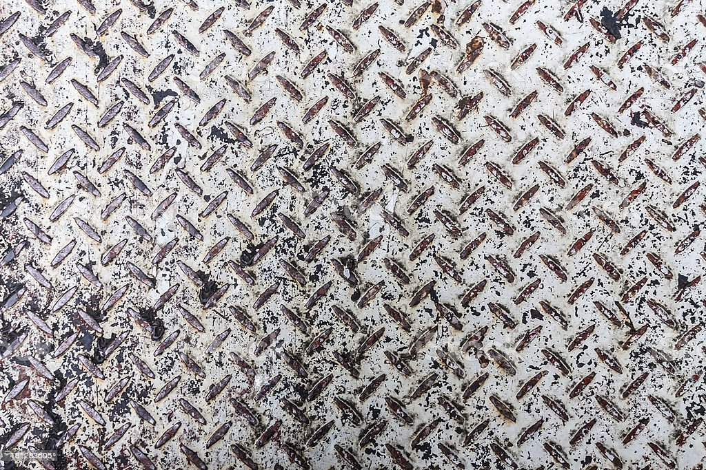 white diamond pattern metal sheet royalty-free stock photo