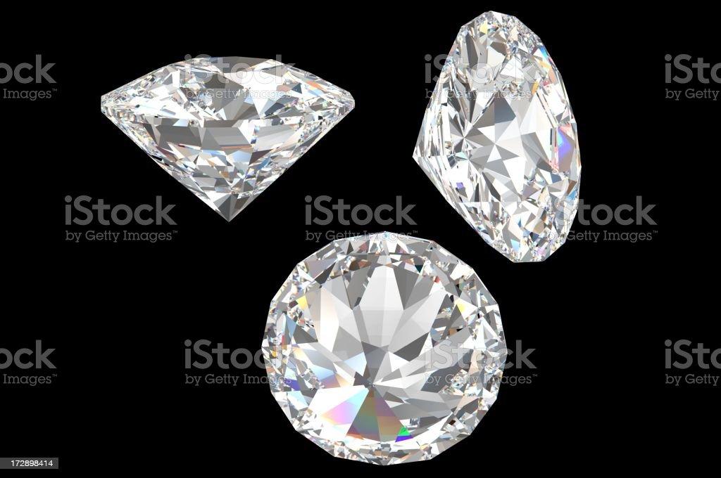 White Diamonds on black royalty-free stock photo