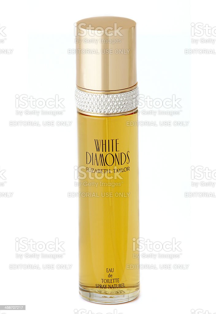 White Diamonds Perfume By Elizabeth Taylor stock photo