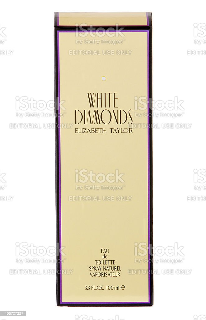 White Diamonds Perfume By Elizabeth Taylor (Packaging Shot) stock photo