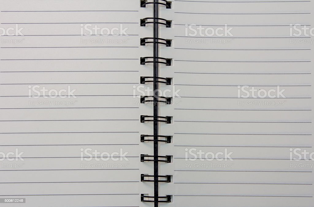 White diary book stock photo