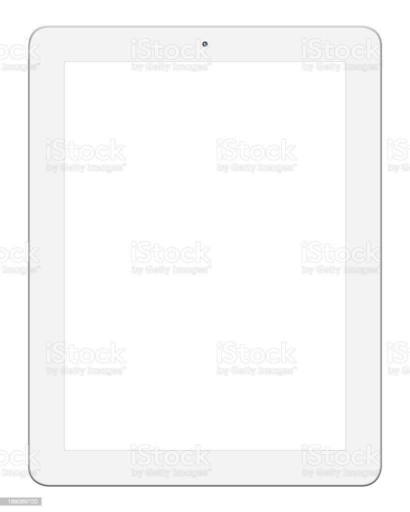 White Digital Tablet PC (Clipping path) stock photo