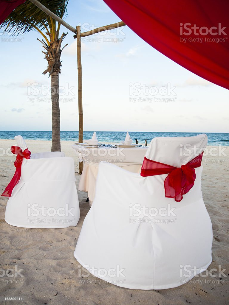 White diner table setting royalty-free stock photo