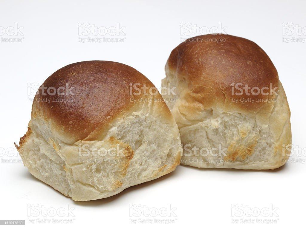 White dinner rolls stock photo
