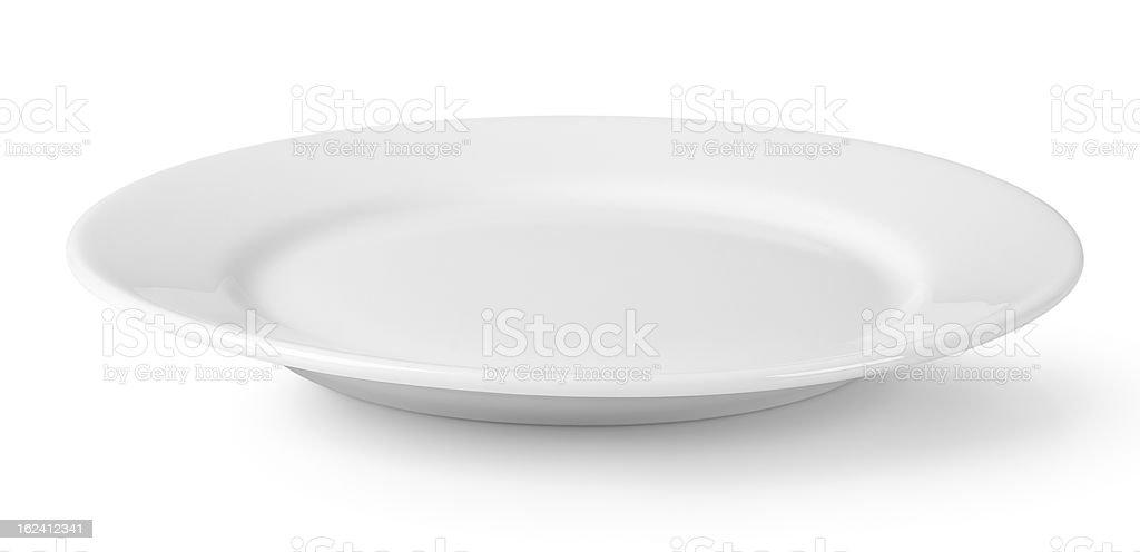 White dish stock photo