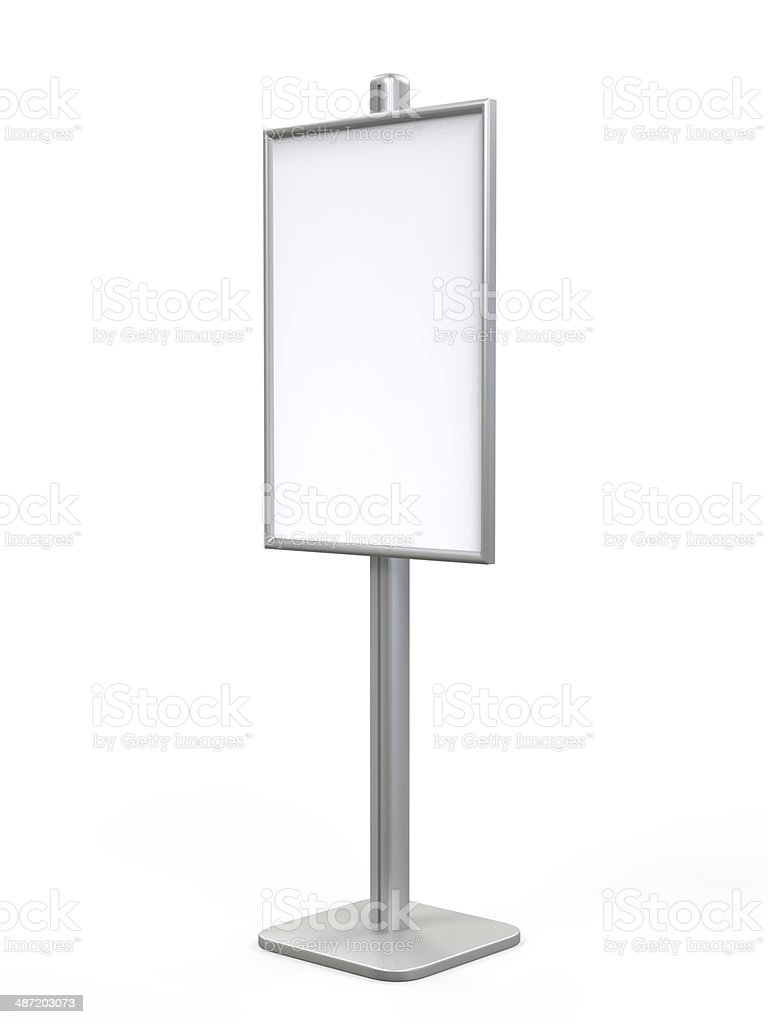 White Display Advertising Stand stock photo