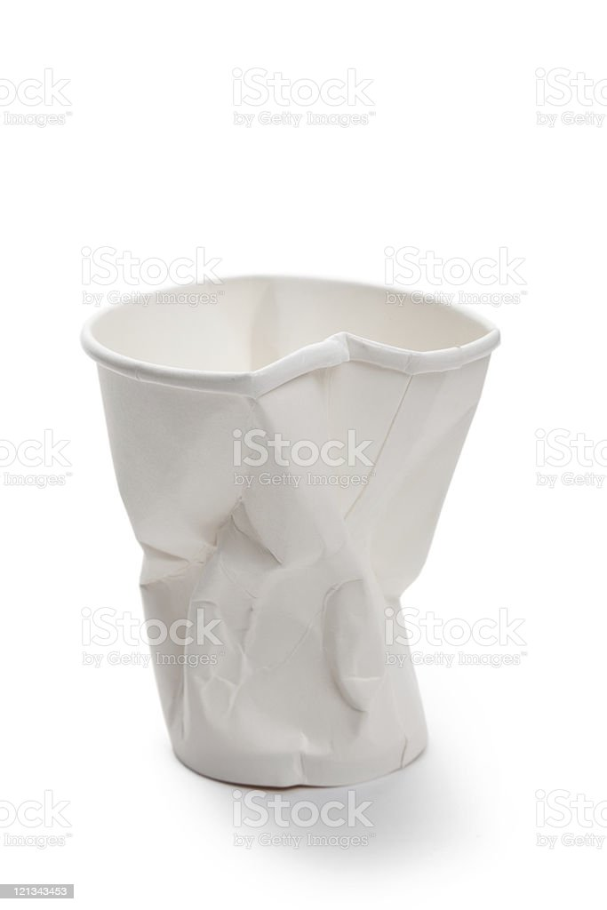 White Disposable Cup royalty-free stock photo