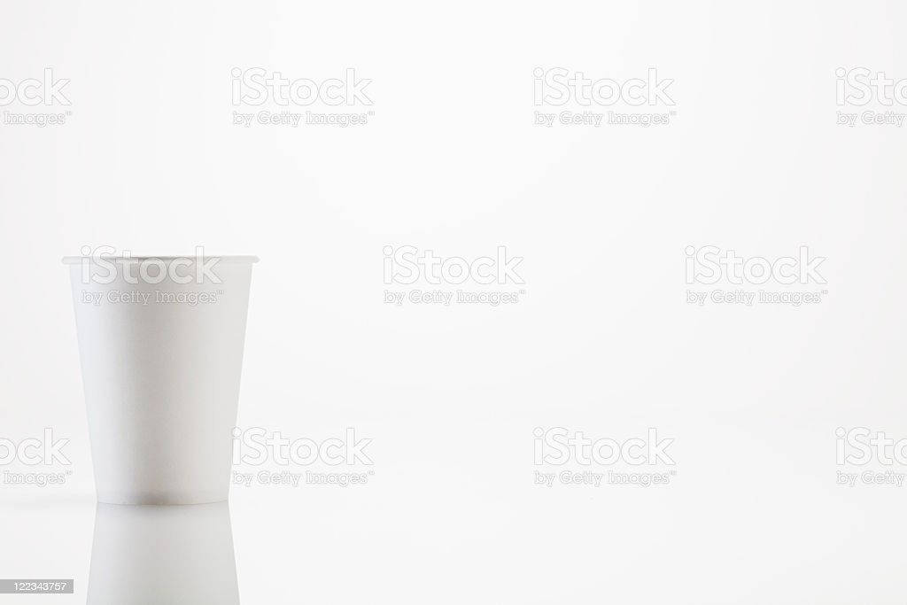 White disposable cup stock photo