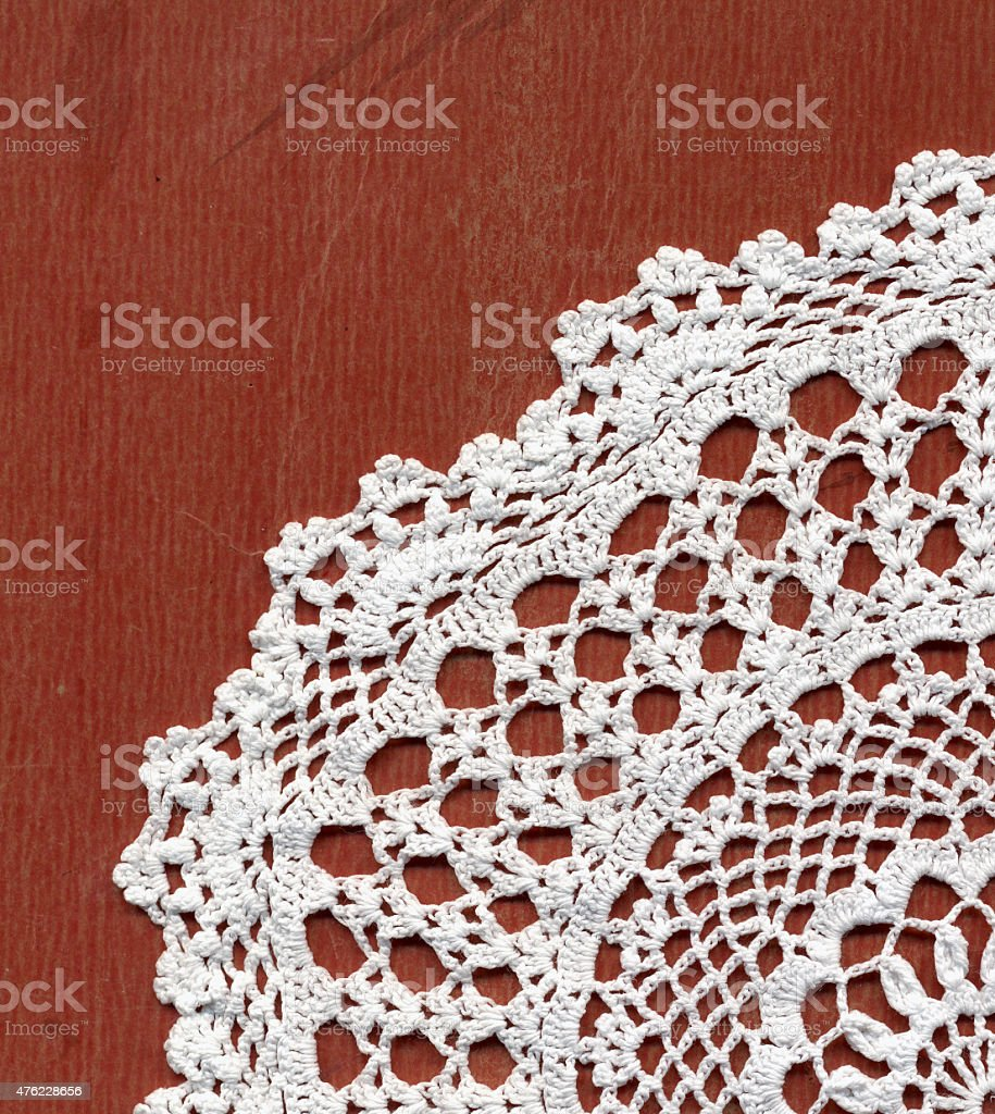 white doilie stock photo