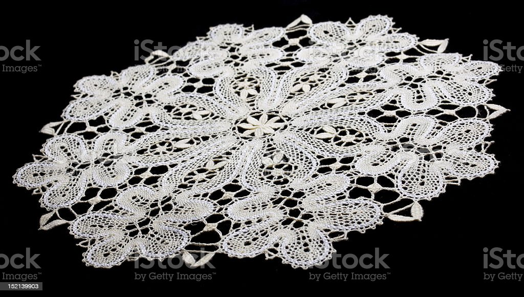 white doily with lace royalty-free stock photo