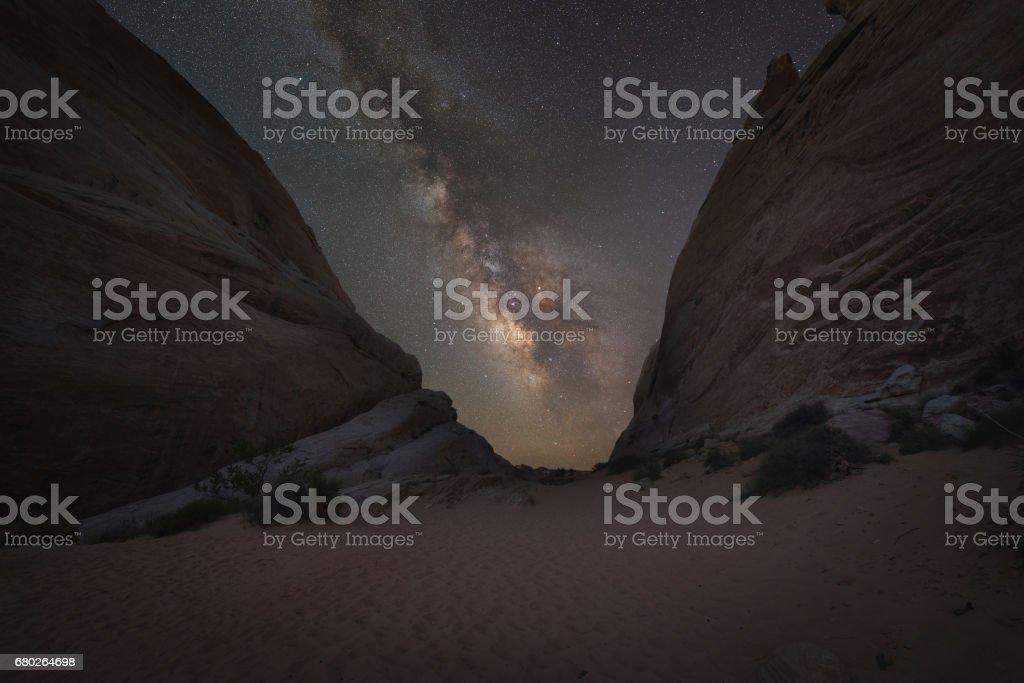 White Domes Trail Milky Way Galaxy stock photo