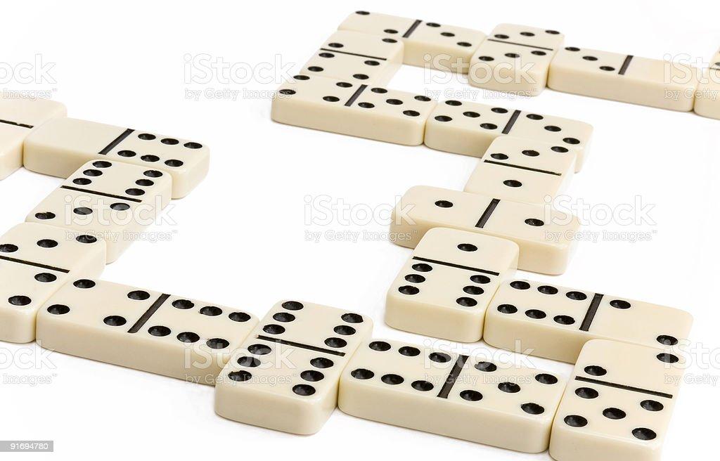 Белый домино игры Стоковые фото Стоковая фотография