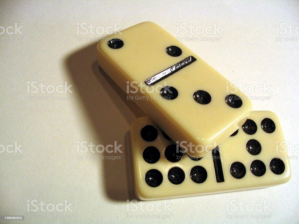 White Domino royalty-free stock photo