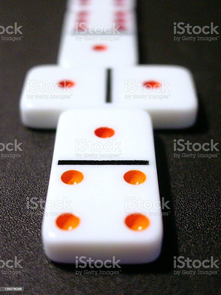 White dominoes on black. stock photo