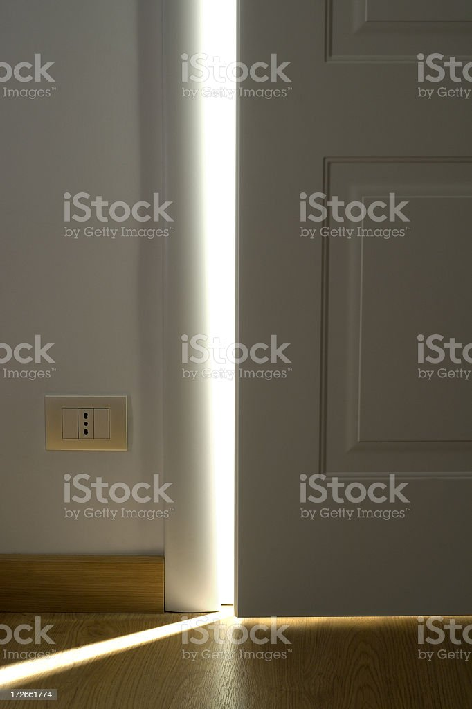 White Door Opening 3 royalty-free stock photo