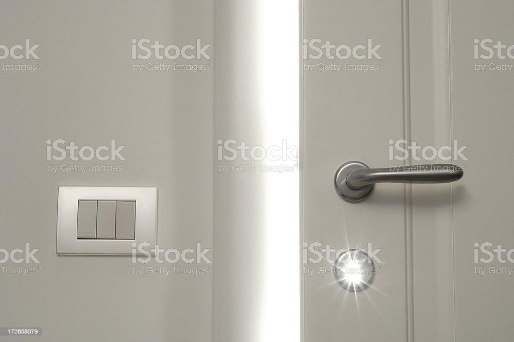 White Door Opening 5 royalty-free stock photo