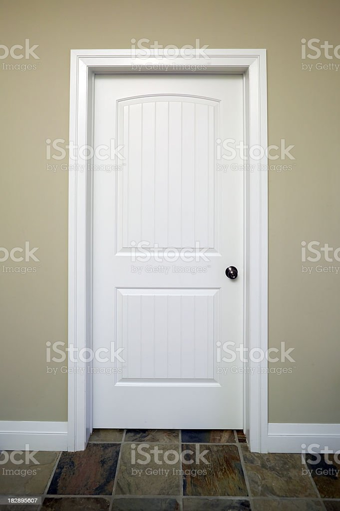 white door stock photo