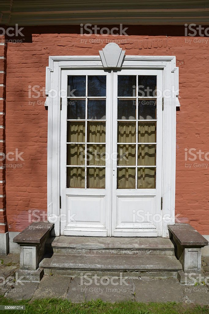 White door stock photo