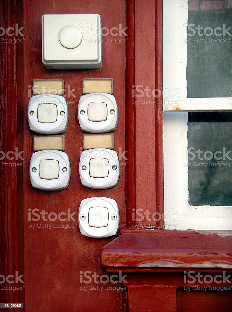 White Doorbells stock photo
