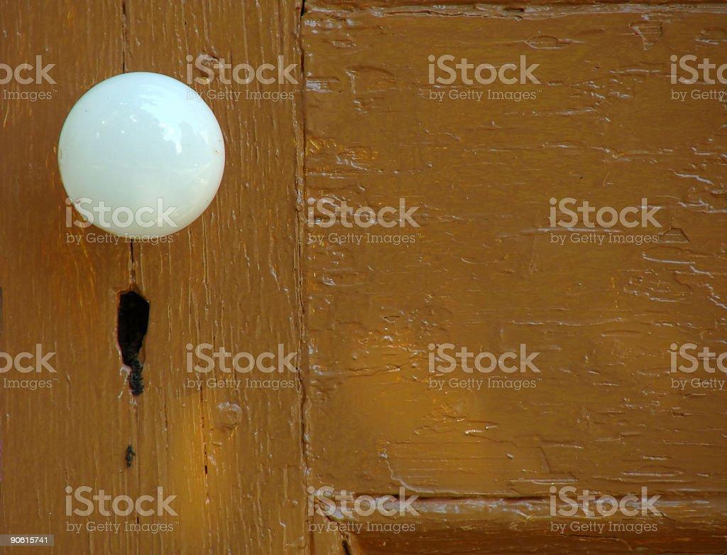 White Doorknob royalty-free stock photo