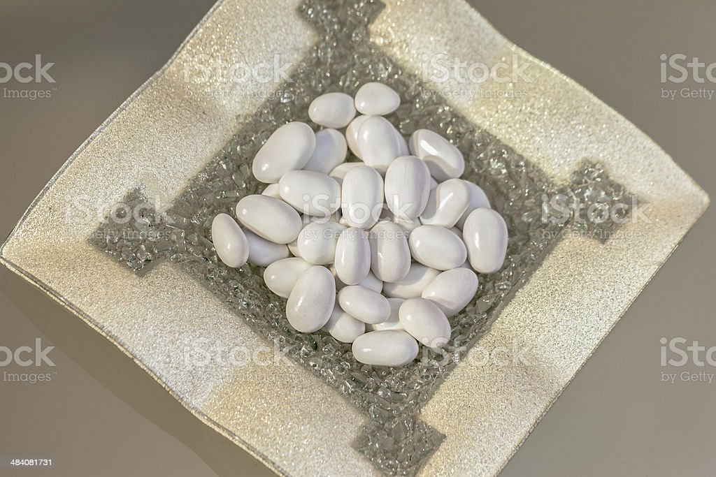 White dragee royalty-free stock photo