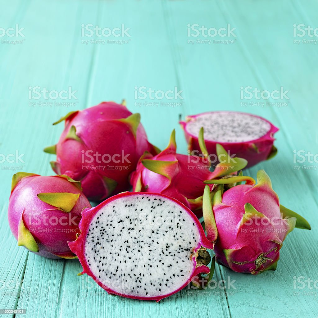 White Dragon Fruit. royalty-free stock photo