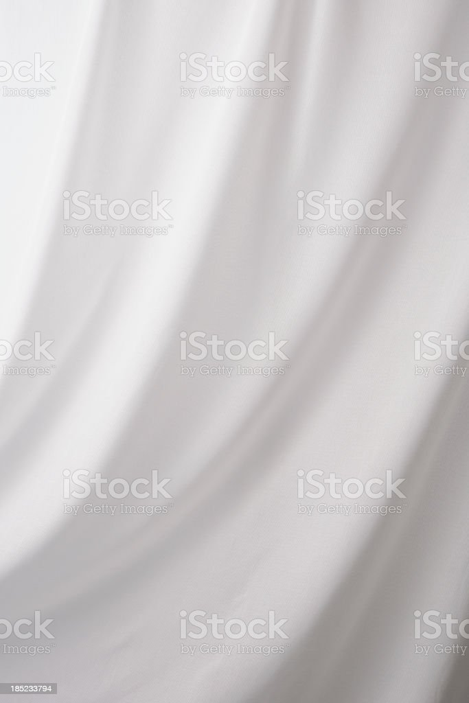 White drape textured background stock photo