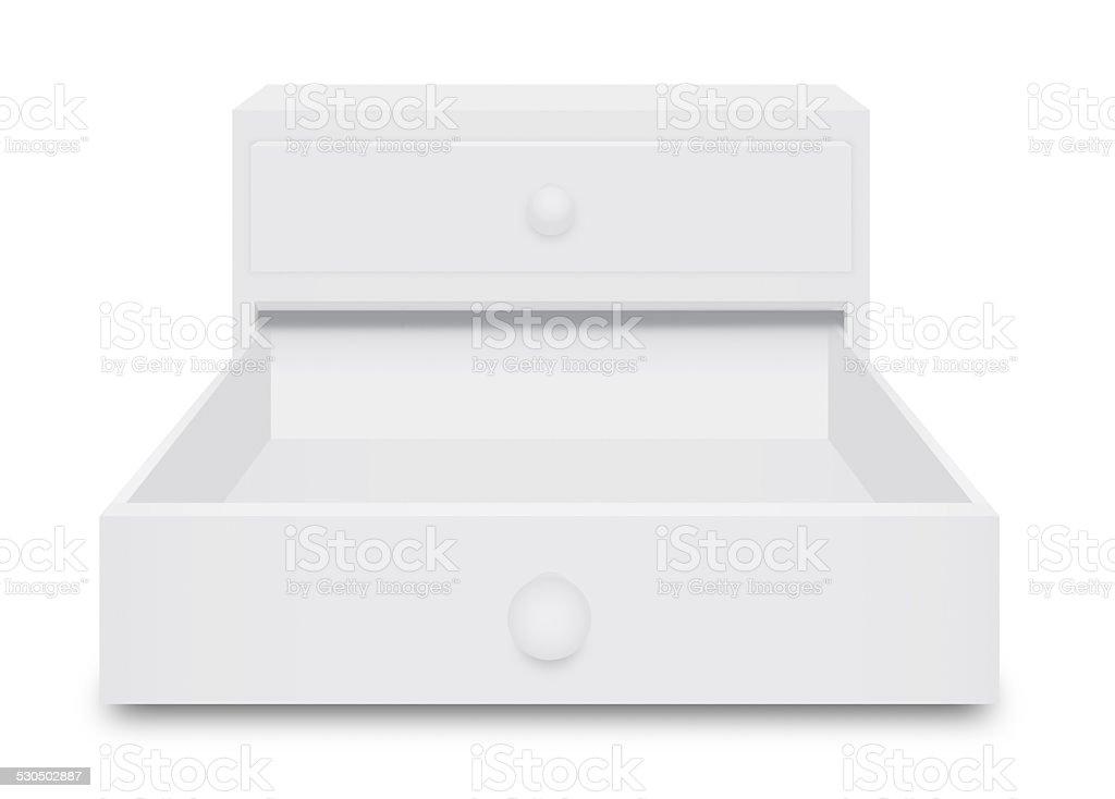 White Drawer Box stock photo