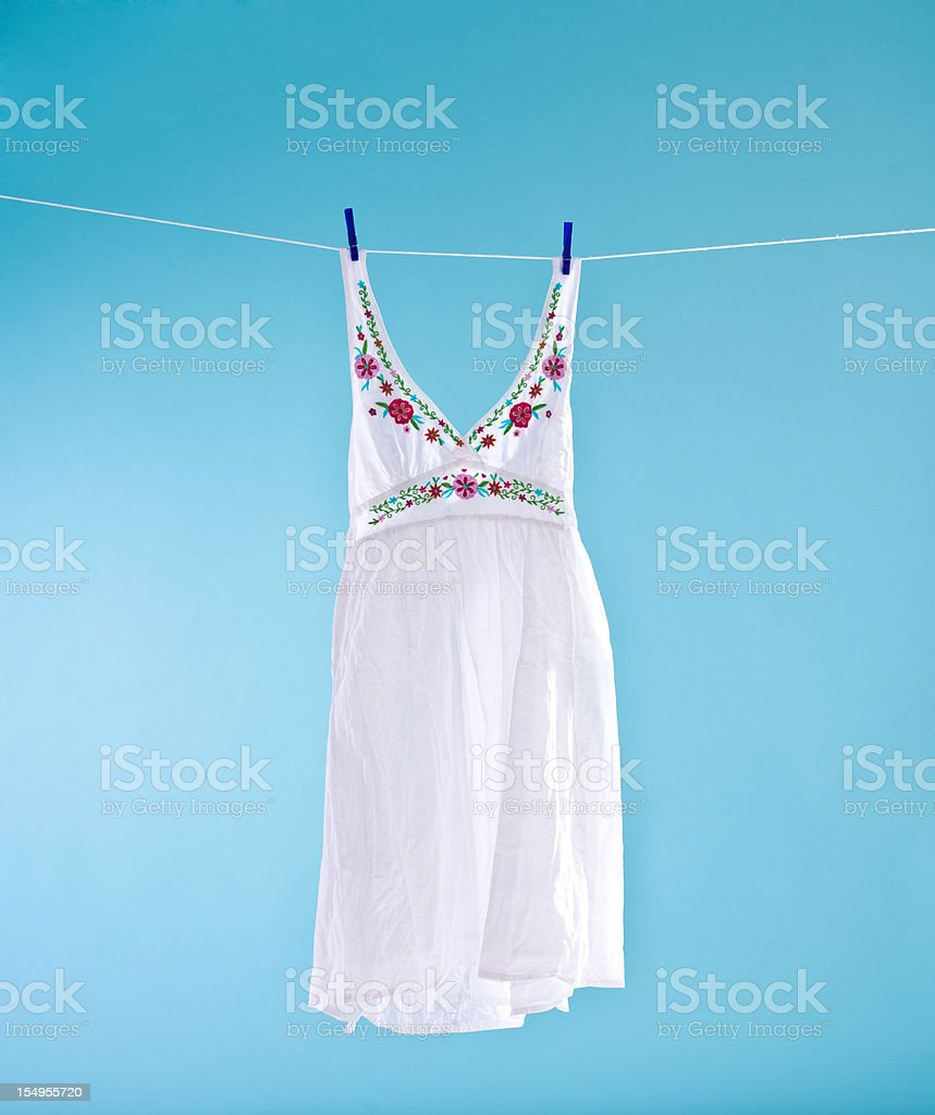 White dress royalty-free stock photo