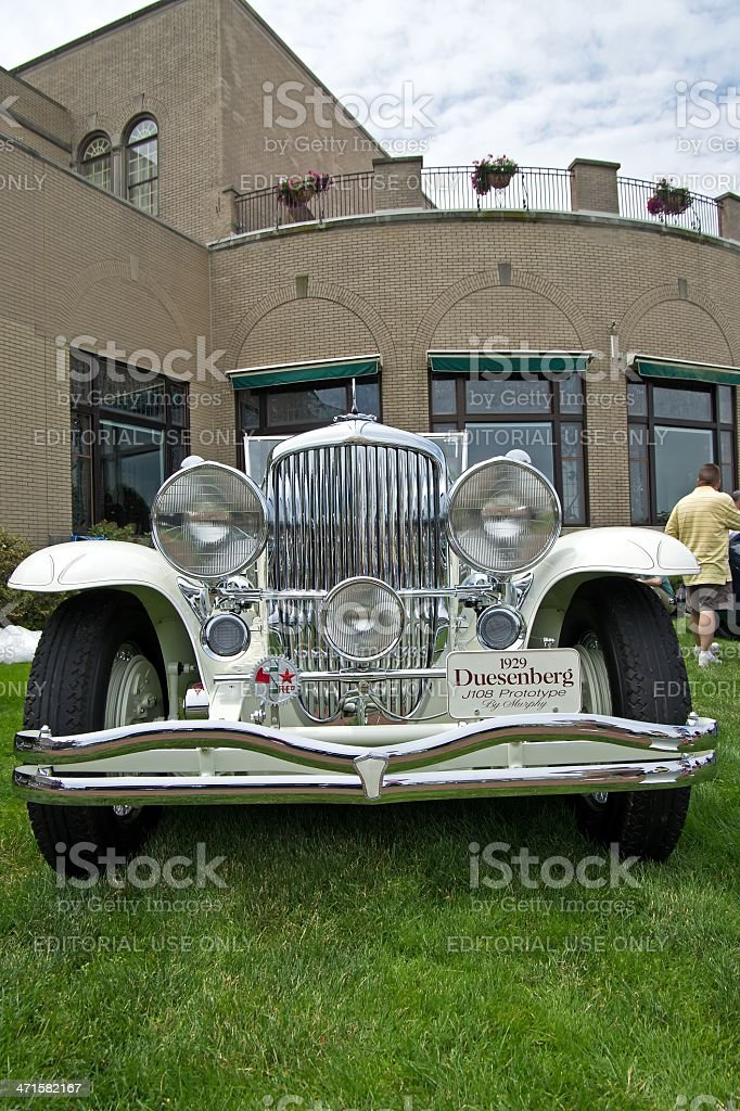 White Duesenberg royalty-free stock photo
