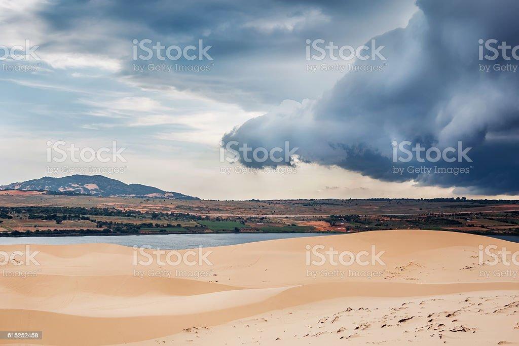 White Dunes in Mui Ne, Vietnam stock photo