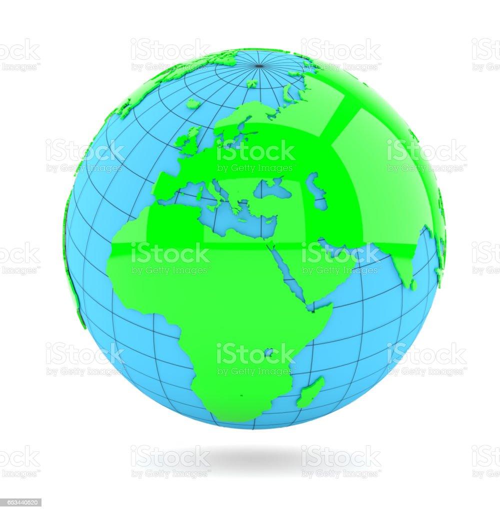 White Earth Globe stock photo