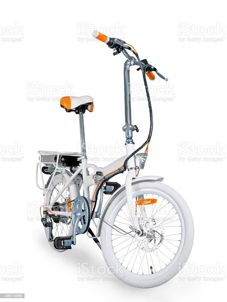 White e-bike stock photo