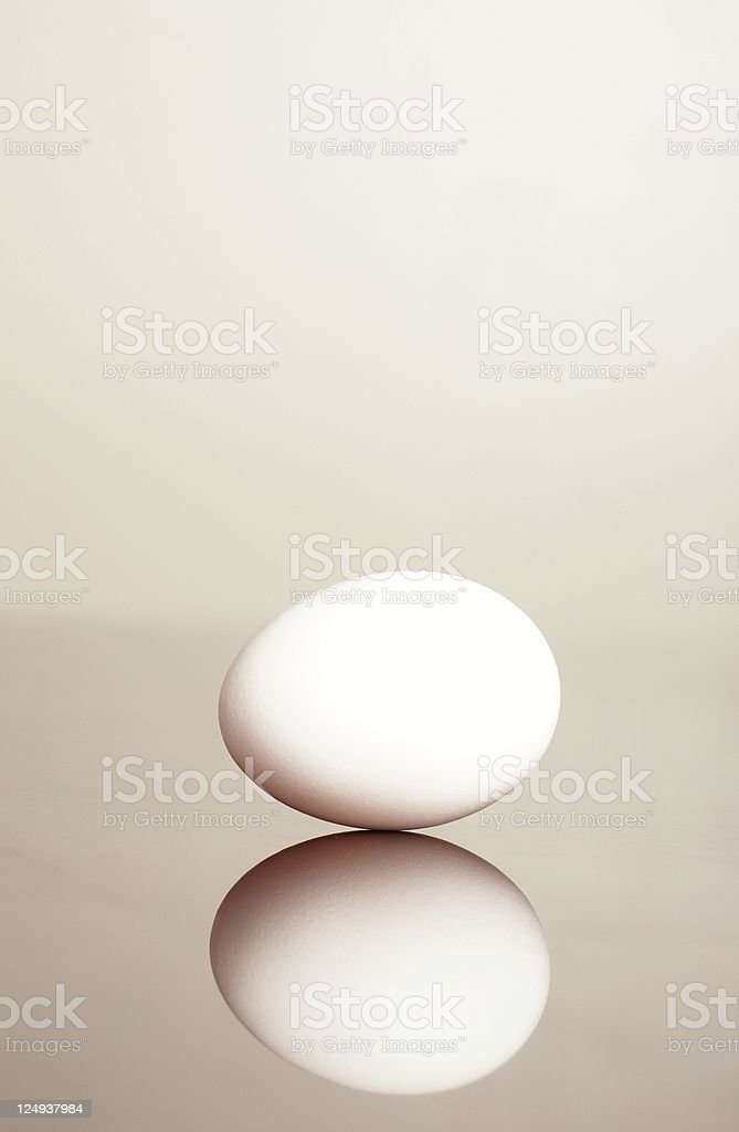 White egg royalty-free stock photo