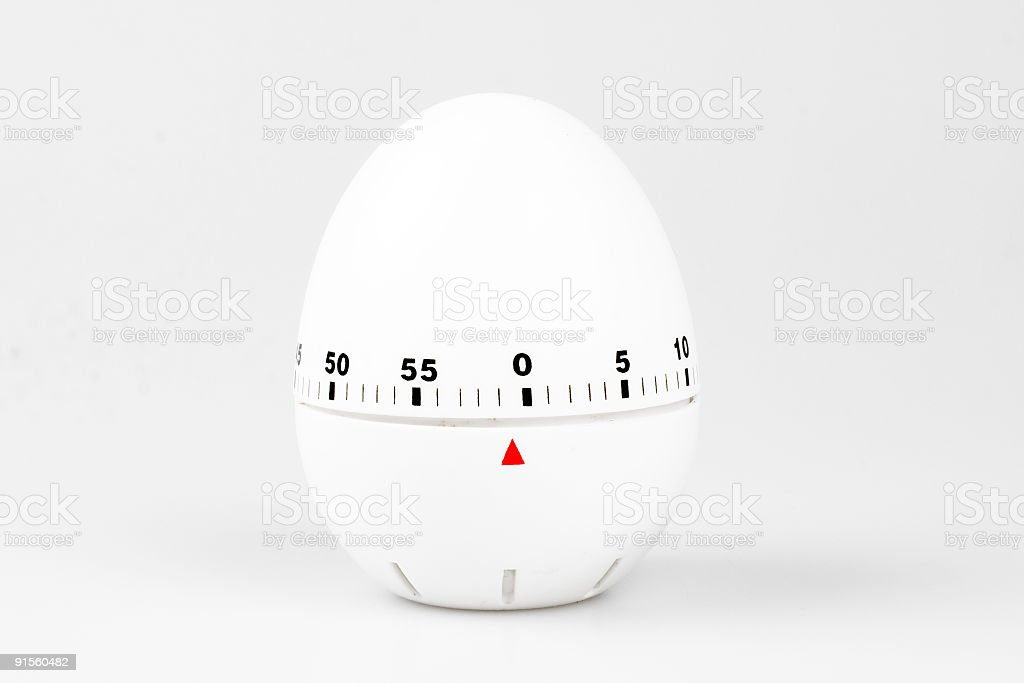 White egg timer royalty-free stock photo
