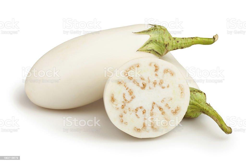 white eggplant cut royalty-free stock photo