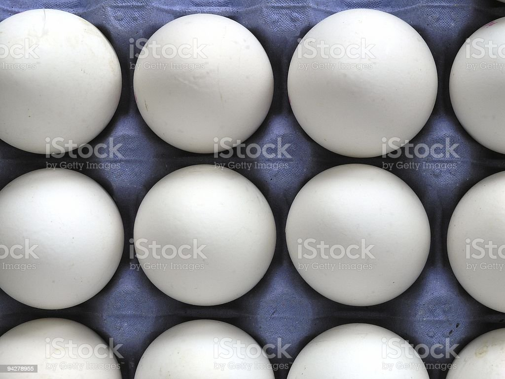 White eggs royalty-free stock photo
