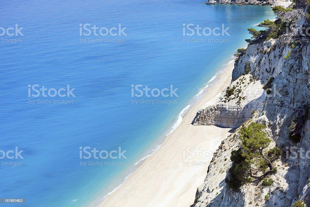 White Egremni beach (Lefkada, Greece) royalty-free stock photo