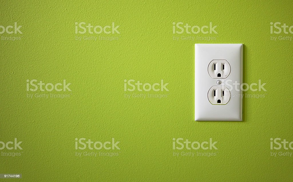white electric outlet stock photo
