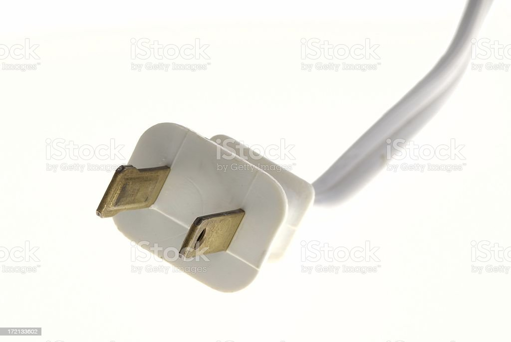 White Electrical Plug royalty-free stock photo